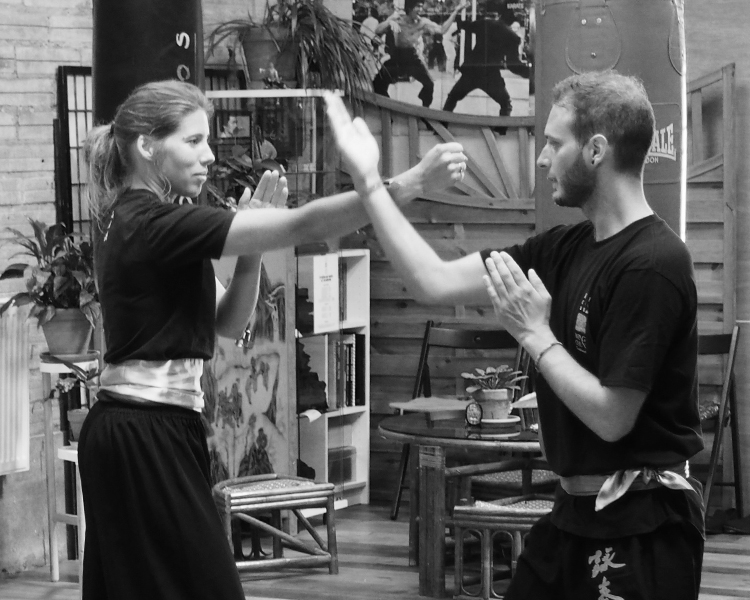 cours-kung-fu-adultes-debutants-partenaire-travail-sifu-stephane-serror-ecole-kung-fu-yim-wing-chun-toulouse